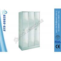China Medical Bed Accessories Hospital Workers Clothes Cabinet With Three Doors on sale