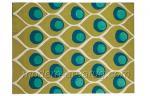Couverture Main-tuftée de pile de laine de modèle de paon, tapis anti-mites indélébiles de région de laine