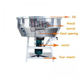 China Vertical Plastic Mixer Machine Capacity 150 Kg/H With Castor Wheel LDH-100 1.5kw on sale