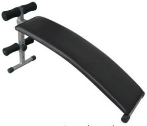 China foldable and adjustable arched sit up bench with comfortable oversize board on sale