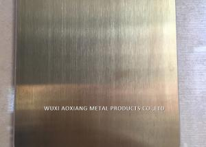 China 304 Stainless Steel Slit Edge Plate Decorative Surface Finish Rose Golded on sale