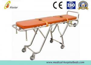 China Emergency Ambulance Stretcher Trolley Adjustable Folding Automatic Loading Cart ALS-S009 on sale