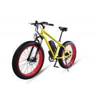 1000w Felt Motor Electric Fat Bike 30-45km/H With 26x4.0 Fat Tire