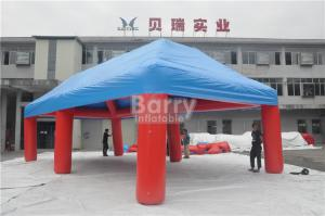 China Outdoor Big Event Advertising Inflatable Tent , Red And Blue Portable Air-Saeled Tent on sale
