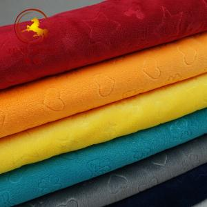 China Fast delivery minky fabric korean wholesale for baby blanket on sale