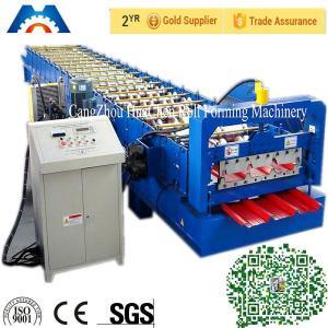 China Rollo de la hoja de la techumbre de PBR/de PBU que forma el corte hidráulico del control del PLC de la máquina on sale