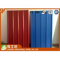 China Red Blue Color Coated Roofing Sheets Crest Tile 0.3-1.2mmX600-1250mm on sale