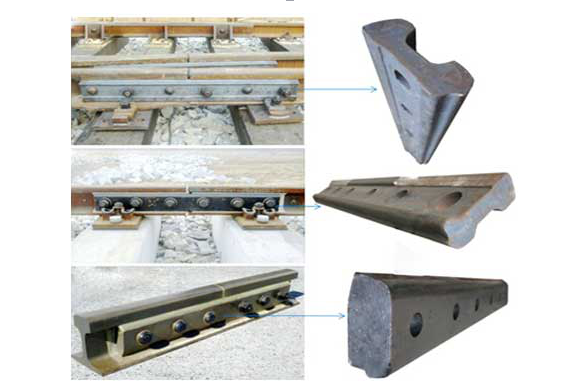 High performance light fish plate rail joint bar for rail track for