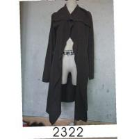 Black Wool / Acylic Womens Knitted Long Cardigan With Nice Design For Autumn