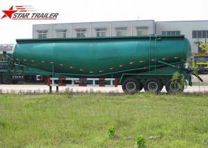 China Banana Type Fuwa 3 Axles Bulk Cement Semi Trailer Green Colour CCC ISO Certification on sale
