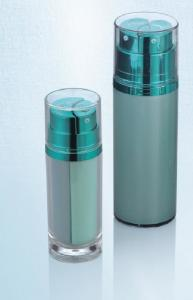 China 40ml 130ml  plastic cylinder cosmetic double container with lid acrylic dual chamber cosmetic lotion bottle on sale