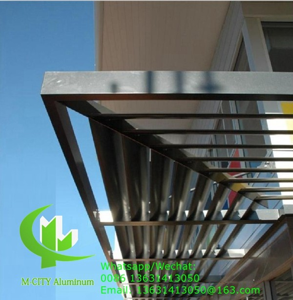 150mm Horizontal Fixed sun louver Architectural Aerofoil