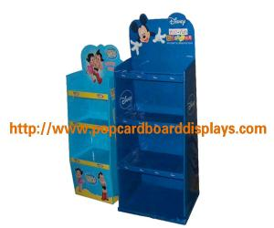 China Cardboard Book Display Stands , Cardboard Floor Display Stand With Shelves on sale