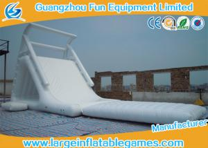 China China Wholesale Durable Cheap Lake White Inflatable Water Slides on sale