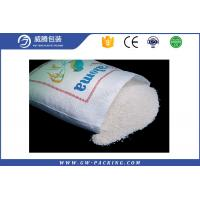 Custom Brown Rice 50 Lb Bag Food Grade  , Rice / Flour PP Woven Sugar Bag