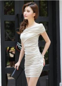 China Sexy Low-Cut Gold Sequin V Neck Sleeveless Close-Fitting Club Party Mini Dress on sale