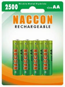 China Naccon Ni-Mh 2500 AA Rechargeable Battery (Ni-MH AA 250BP4) on sale