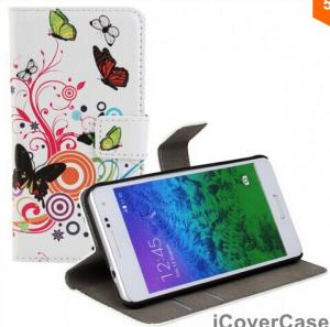 China Butterfly Flower Wallet Stand Leather Case for Samsung Galaxy Alpha with Card Slots on sale