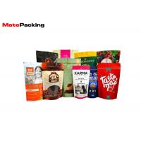 Zipper Custom Printed Stand Up Pouches Plastic Laminated Foil Coffee Bags With Valve