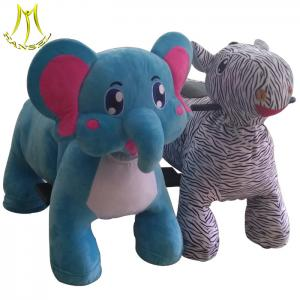 China Hansel indoor entertainment plush electric elephant animal scooter for sale on sale