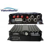Dual SD Card Vehicle Mobile DVR GPS Tracker 4 Channel PA / NTSC Video Signal