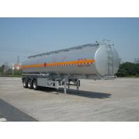 46000L Aluminum Alloy 3 Axles Diesel Oil Tank Trailer , Light Gasoline Trailer
