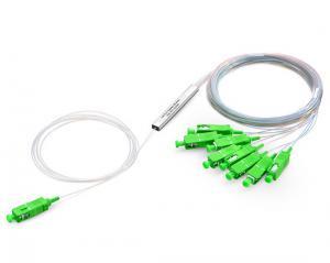 China Passive PON Solution Fiber Optic Splitter MINI Steel Tube SC/APC 1x8 PLC Splitter on sale