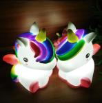 Light Up Unicorn 7 LED Colors Change Shine Night Light Novelty Toy For Kids Flashing My Little Pony