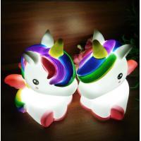 Light Up Unicorn 7 LED Colors Change Shine Night Light Novelty Toy For Kids Flashing My Little Pony