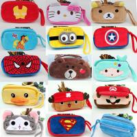 China Fashion Cartoon Characters Red and Blue Plush Pencil Pouch Pencil Case For Promotion Gifts on sale