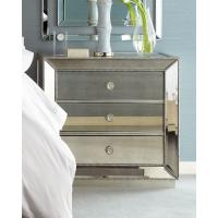 5 Star Hotel Mirrored Night Stand Bed Side Table with Wooden Beads Decorate