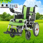 Spray Steel Material Small Electric Wheelchair For Indoors Folding Function