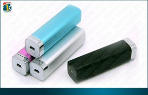 China Slim Blue Portable Charger Power Bank of Aluminum Alloy for Mobile Devices 2200mAh on sale