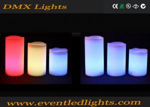 China Battery Operated Luminara Led Flameless Candles , remote controlled candle For Weddings on sale