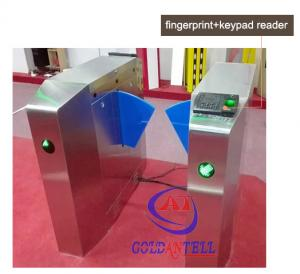 China Passage optical Flap Barrier Gate , bi directional Bus half height turnstile sound Alarm on sale