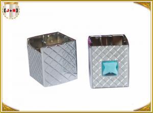 China Distinct Twist Off Zinc Alloy Perfume Bottle Caps Gunmetal Square Shape on sale