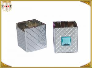 China Gunmetal Square Shape Distinct Twist Metal Caps For Perfume Bottle on sale