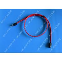 Red 18 Inch Custom SATA Data Cables SATA III 6.0 Gbps For Blue Ray DVD CD Drives