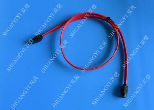 China Red 18 Inch Custom SATA Data Cables SATA III 6.0 Gbps For Blue Ray DVD CD Drives on sale
