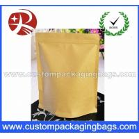 Heat Sealing Ziplock Kraft Paper Coffee Packaging Bags With Valve