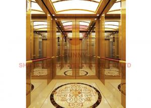 China Hairline Stainless Steel 1600kg Load Vvvf Residential Elevator on sale