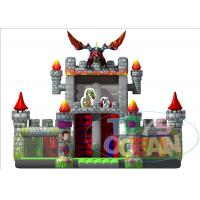Giant Inflatable Playground Slide Dragon Moster Castle Playground With Slide For Rental
