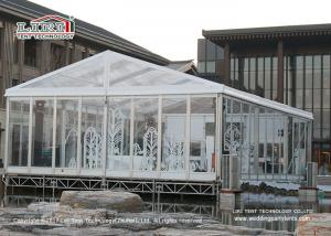 China 200 People Transparent Marquee  Tent  / Waterproof Event Tent A Shape Style on sale
