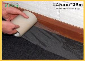 China 125mm Width Floor Protection Film Anti Dirt Against Wall Painting on sale