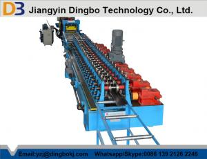 China Euro Style Door Frame Roll Forming Machine With Chain Or Gear Box Driven System on sale