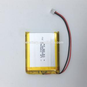 China SUN EASE CE and ROHS 3.7v 785060 2500mAh lithium ion battery with PCB and JST PHR 2.0 connector on sale