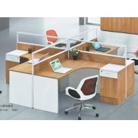 China modern 4 seats office table low glass partition with drawers in warehouse in Foshan on sale