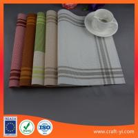 Placemat and coaster set table cloth Textilene mesh fabric table mats supplier