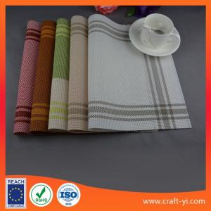 China Placemat and coaster set table cloth Textilene mesh fabric table mats supplier on sale