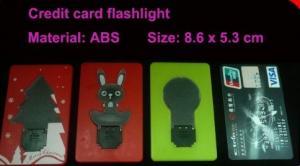 China Jouets de clignotant portatifs HLT1102026 de la forme LED de carte de crédit d'OEM pour promotionnel on sale